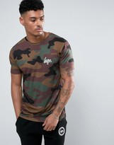 Hype T-Shirt In Camo With Small Logo