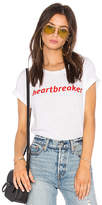 Private Party Heartbreaker Tee in White. - size L (also in M,S)