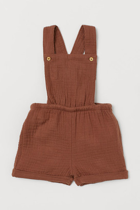 H&M Cotton Overall Shorts - Beige