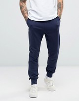Lyle & Scott Slim Fit Sweat Pants Eagle Logo in Navy