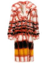 Miu Miu faux fur checked coat