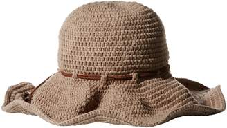 Ale By Alessandra 'Ale By Alessandra 'ale by alessandra Women's Nikki Retro Crochet Floppy Hat with Leather Trim