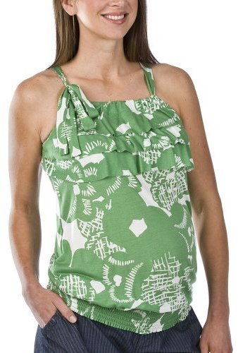 Liz Lange Ruffle Tank Green/White