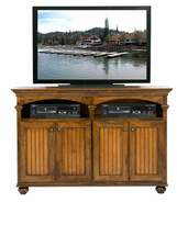 August Grove South Perth Solid Wood TV Stand for TVs up to 65 inches August Grove Door Type: Wood, Color: Burnt Cinnamon