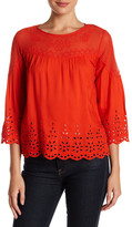 Jessica Simpson Kalypso Embroidered Eyelet Blouse