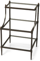 One Kings Lane Liv Tiered Side Table - Bronze - frame, bronze; glass, clear