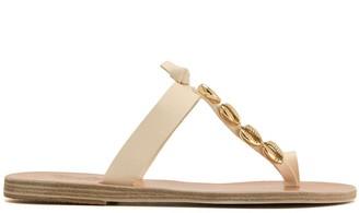 Ancient Greek Sandals Iris shell-embellished slides
