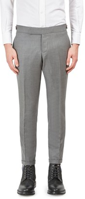 Thom Browne Low Rise Skinny-Fit Wool Pants