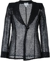 Armani Collezioni sequined lace blazer - women - Polyester - 38