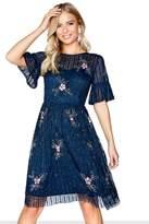 Little Mistress Navy Midi Dress