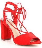 Gianni Bini Keelin Lace-Up Block Heel Sandals