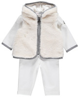 Moncler Faux Fur Leggings and Sweatshirt Set
