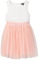 My Michelle mymichelle Floral Applique Top Dress (Big Girls)