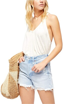 Free People Sandy Tank (White) Women's Clothing