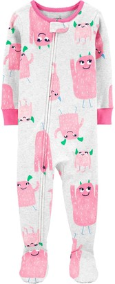 Carter's Toddler Girl Footed Pajamas