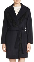 Maje Gypso Fringe-Trimmed Coat