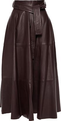 Zimmermann Belted Leather Midi Skirt