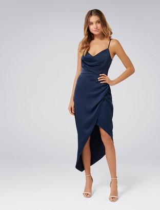 Ever New Kahlia Asymmetric Cowl Neck Dress