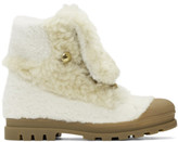 Chloé White Shearling Parker Boots