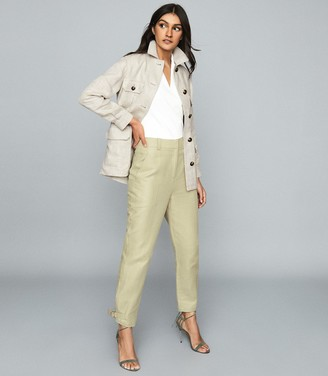 Reiss Roma - Linen Jacket in Neutral