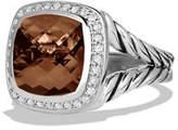 David Yurman 11mm Albion Faceted Citrine Ring w/Diamonds
