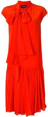 Rochas Bow Tie Silk Shift Dress