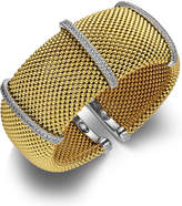 Macy's Diamond Cuff Bracelet in 14k Gold over Sterling Silver and Sterling Silver (1/2 ct. t.w.)