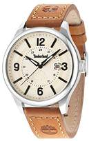 Timberland Men's Quartz Watch with Black Dial Analogue Display and Dark Brown Leather Strap TBL.14645JS/07