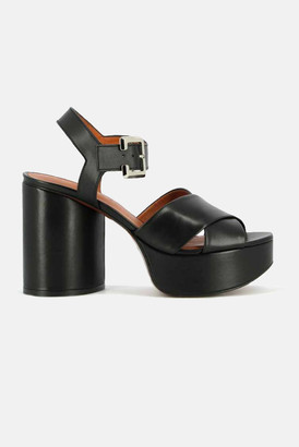 Clergerie Vianne Leather Platform Sandals