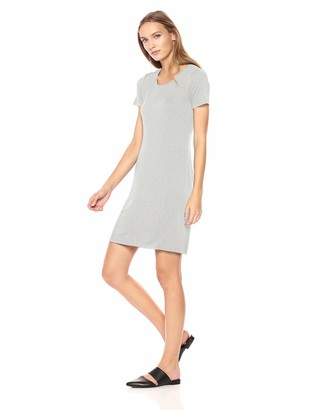 Daily Ritual Amazon Brand Women's Jersey Short-Sleeve Scoop Neck T-Shirt Dress