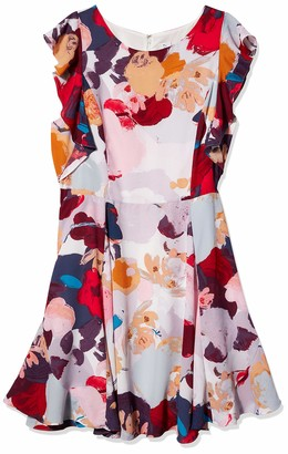 Julia Jordan Women's Ruffle Sleeve All Over Floral Printed Fitflare