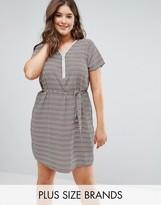 Koko Zig Zag Print Zip Front Dress