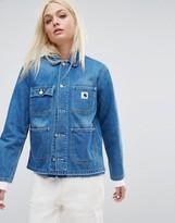 Carhartt WIP Workwear Denim Jacket With Raw Hem