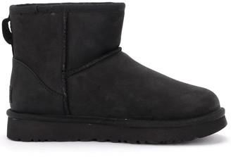 UGG Classic Ii Mini Ankle Boot In Black Leather