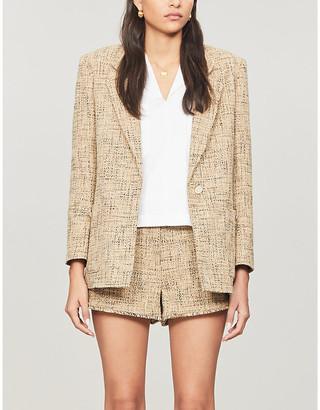 Sandro Sone single-breasted tweed jacket
