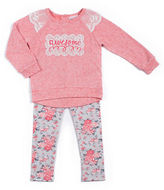 Little Lass Girls 2-6x Awesome Long Sleeve Sweater and Printed Leggings Set