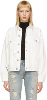 R 13 White Denim Sky Trucker Jacket