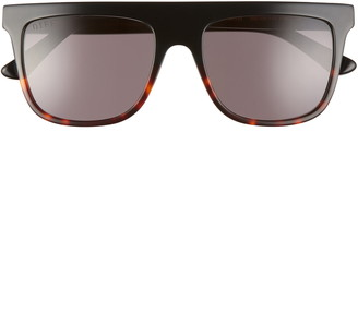 DIFF Stevie 55mm Gradient Flat Top Sunglasses