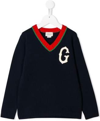 Gucci Kids G patch jumper