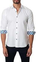 Jared Lang Woven Long Sleeve Semi-Fitted Shirt