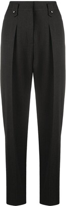 Luisa Cerano High-Waisted Tapered Trousers