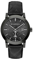 Burberry Stainless Steel Leather Strap Watch