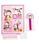 Kids Line 4 Piece Crib Bedding Set, Miss Monkey (Discontinued by Manufacturer) by