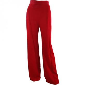 Brandon Maxwell Red Trousers for Women