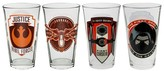 Disney Star Wars Glass Tumblers 16oz Set of 4