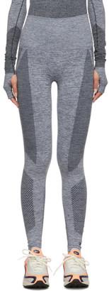 Reebok x Victoria Beckham Grey and White Seamless Leggings