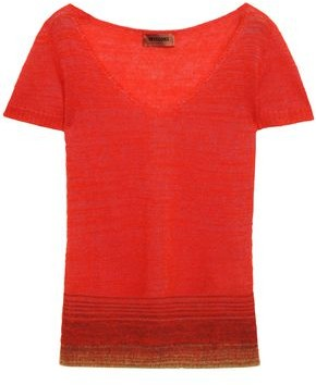Missoni Brushed Crochet-knit Top