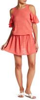Minnie Rose Ruffalo Linen-Blend Knit Dress
