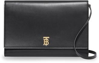 Burberry Monogram Motif Leather Bag with Detachable Strap