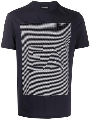 Emporio Armani geometric logo T-shirt